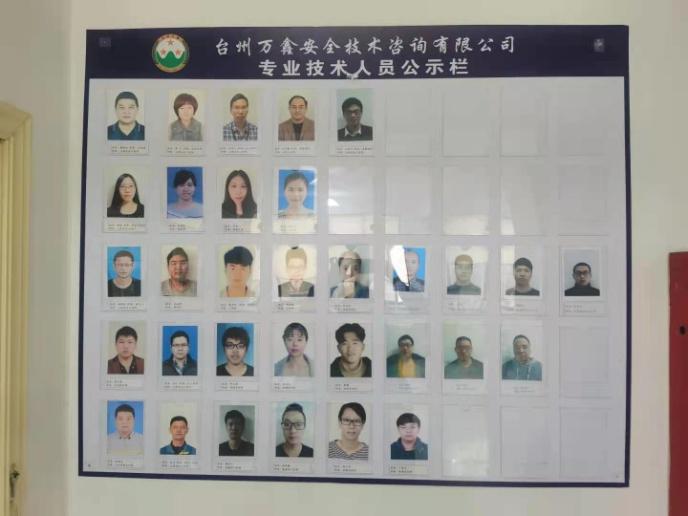工作人员信息墙